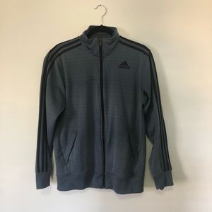 Adidas dark gray zip jacket